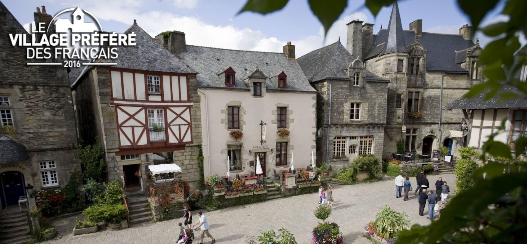 Rochefort en Terre et déjeuner croisière sur la Vilaine